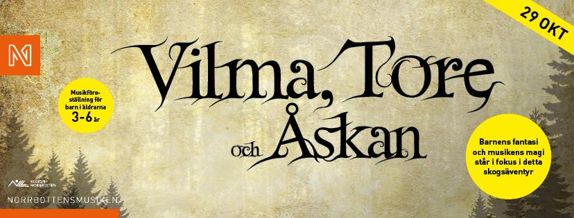 FacebookHuvud_Norrbottensmusiken_Vilma, Tore och Åskan_LULEÅ