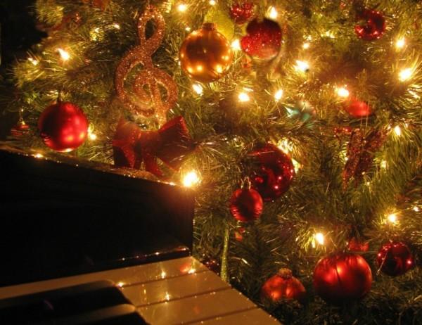 Julgran med G-klav