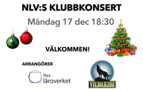 Affisch liggande till Ebeneser 2018 julkonsert